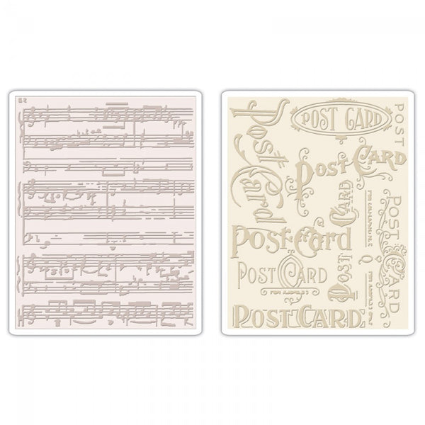 Sizzix Texture Fades Embossing Folder, Postcard/Sheet Music