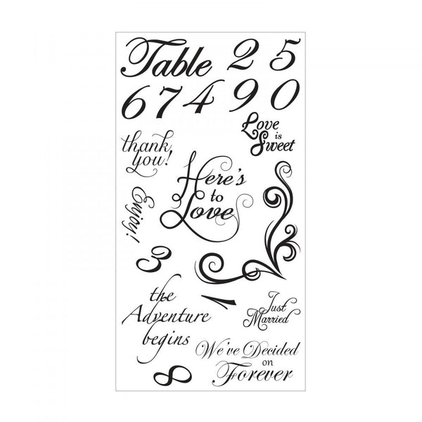Sizzix, Sentiments & Table Numbers, Clear Stamps - Scrapbooking Fairies
