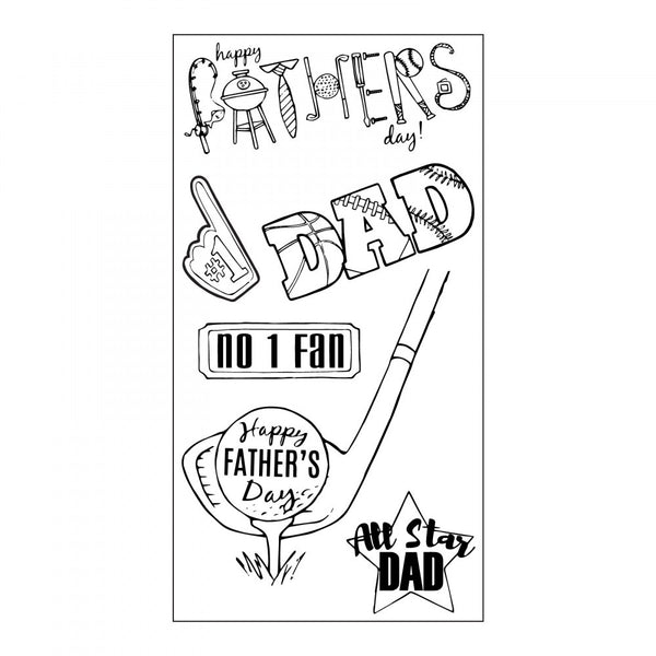 Sizzix, Clear Stamps By Jen Long, All Star Dad
