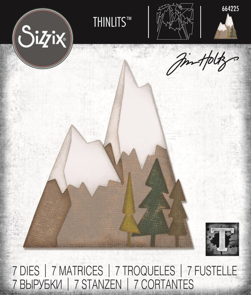 Sizzix Thinlits Dies By Tim Holtz 7/Pkg, Alpine