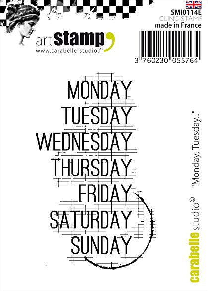 "Carabelle Studio Cling Stamp 2.75""X3.75"", Monday, Tuesday..."