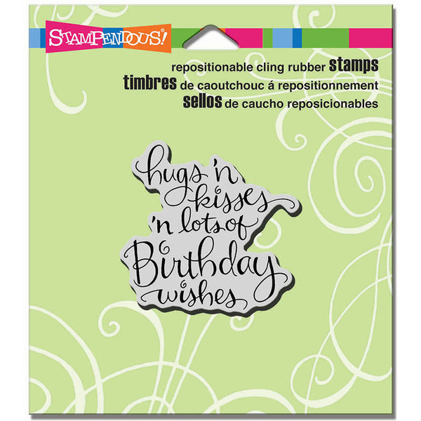 Hugs Kisses Wishes Cling Stamp