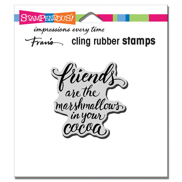 Stampendous Cling Stamp, Marshmallow Friends