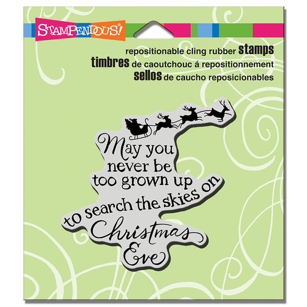 Stampendous, Cling Stamp, Christmas Sky