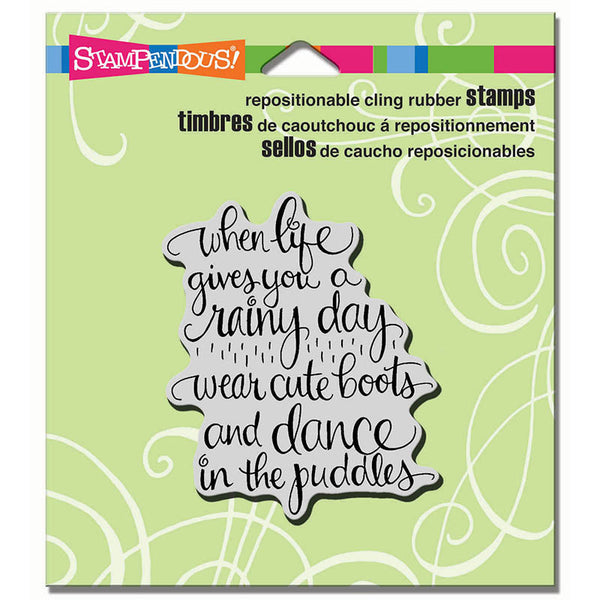 Stampendous, Cute Boots Cling Stamp - Scrapbooking Fairies