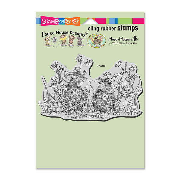 Stampendous, Cling Stamp, Garden Kiss - Scrapbooking Fairies