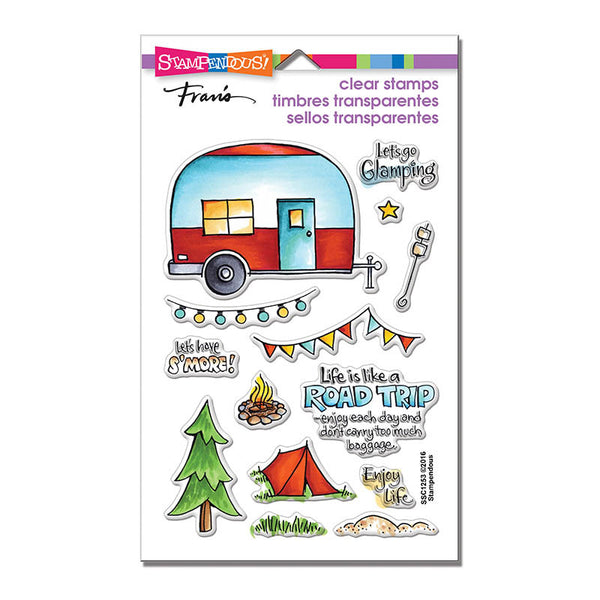 Campground Clear Stamps Set - Scrapbooking Fairies