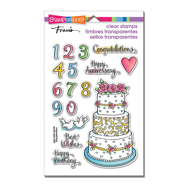 Cake Tiers Clear Stamps Set - Scrapbooking Fairies
