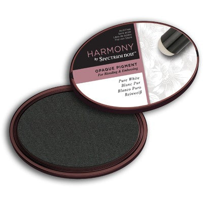 Crafter's Companion, Harmony by Spectrium Noir,  Opaque Pigment Ink Pad, Pure White