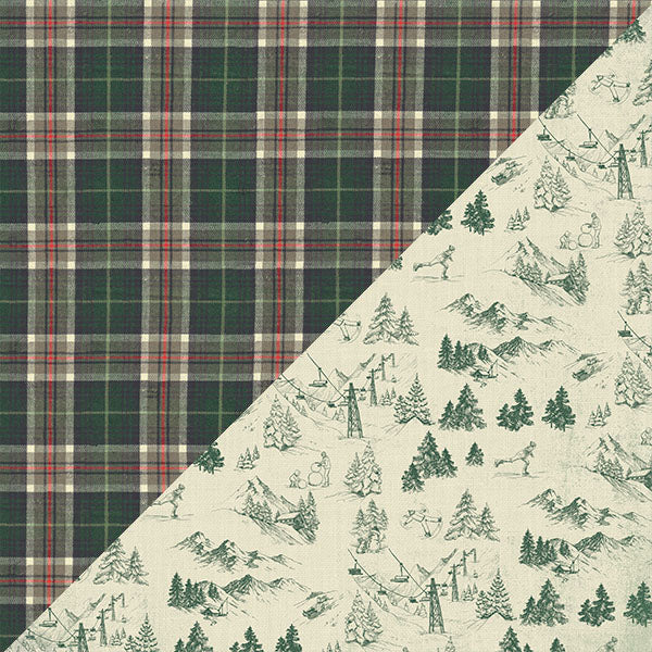 "Solitude Five,  Double-Sided Cardstock 12""X12"", #5 Heavy Plaid"