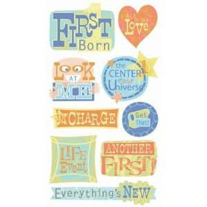 First Born Vellum Stickers Sticko - Scrapbooking Fairies