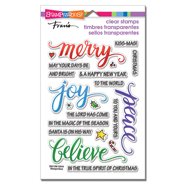 Stampendous, Perfectly Clear Stamps, Merry Words