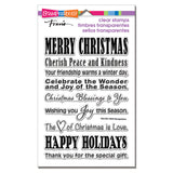 Stampendous, Perfectly Clear Stamps, Holiday Wishes