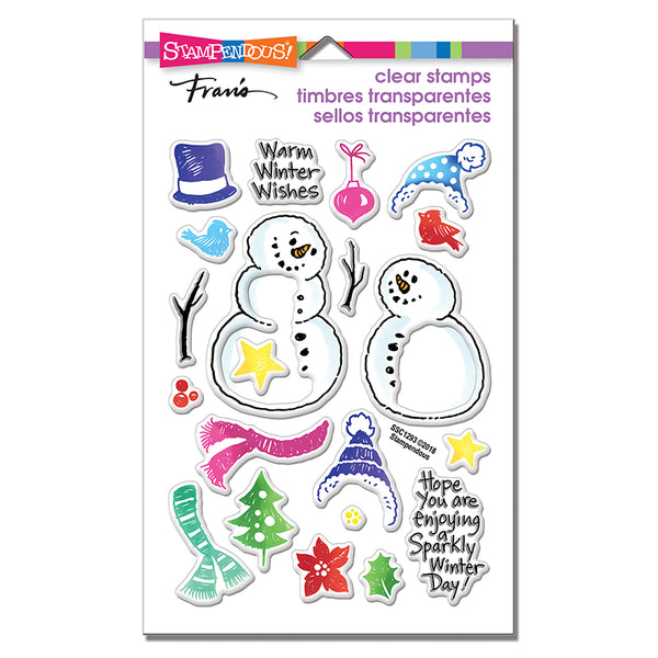 Stampendous, Perfectly Clear Stamps, Snowmen Accessories
