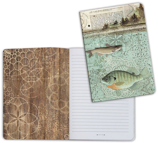 Stamperia Lined Notebook A5, Fish