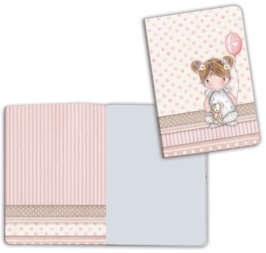 Stamperia, Notebook A6, Baby Girl Balloon