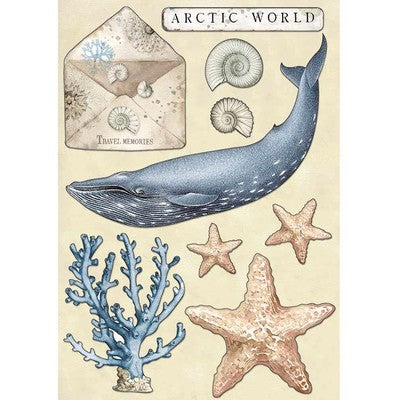 Stamperia A5 Colored Wooden Shapes A5, Arctic Antarctic - Arctic World