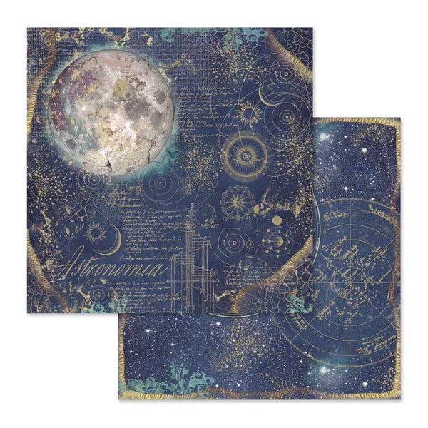 "Stamperia, Double-Sided Cardstock 12""X12"", Cosmos Astral"