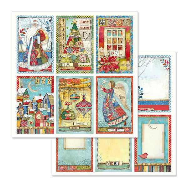 "Stamperia Double-Sided Cardstock 12""X12"", Christmas Cards"