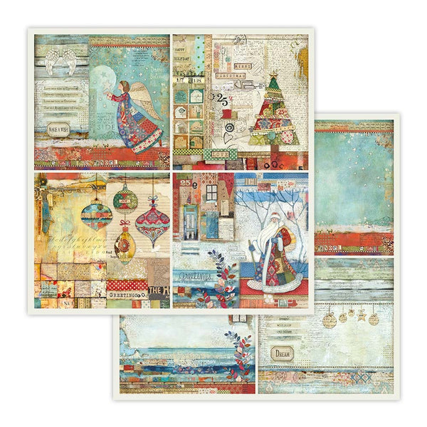 "Stamperia Double-Sided Cardstock 12""X12"", 4 Frames Christmas"
