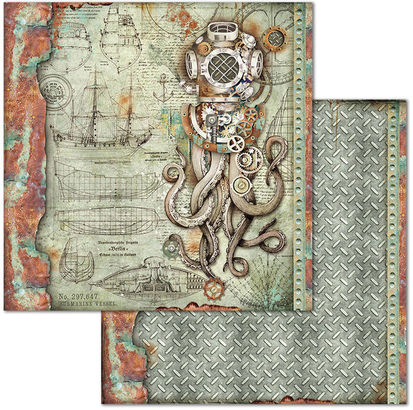 "Stamperia Double-Sided Cardstock 12""X12"", Octopus"