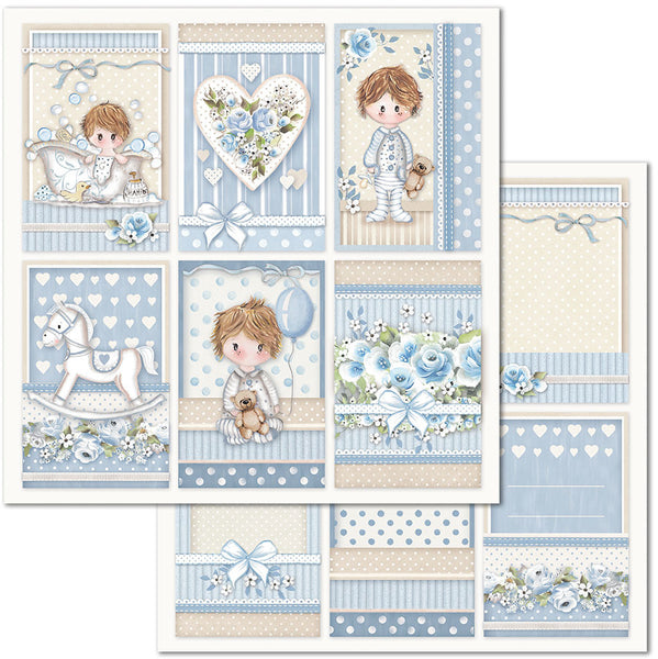 "Stamperia, Double-Sided Cardstock 12""X12"", Little Boy Frame"
