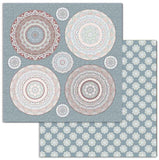 "Stamperia Double-Sided Cardstock 12""X12"", 26 Secrets of India, Mandala"