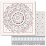 "Stamperia Double-Sided Cardstock 12""X12"", 26 Secrets of India, Mandala Lace"