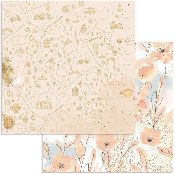 "Stamperia Double-Sided Cardstock 12""X12"", Watercolor Flowers, Love Story"