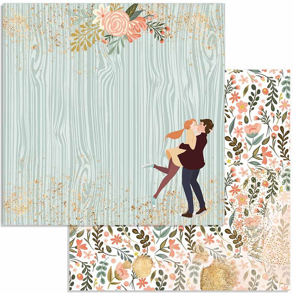 "Stamperia Double-Sided Cardstock 12""X12"", Lovers, Love Story"