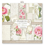"Stamperia Double-Sided Paper Pad 12""X12"" 10/Pkg, Letters & Flowers, 10 Designs/1 Each"