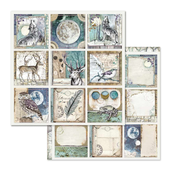 "Stamperia, Double-Sided Cardstock 12""X12"", Cosmos Cards"