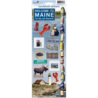 Maine Cardstock Sticker