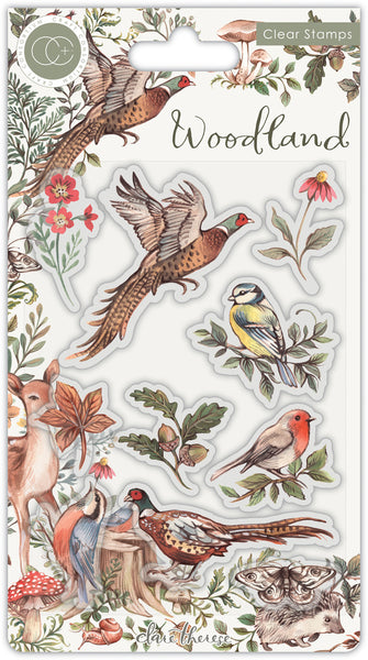 Craft Consortium A5 Clear Stamps, Birds, Woodland