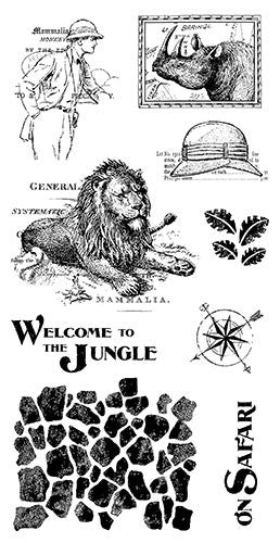 Graphic 45 - Safari Adventure Cling Stamp 3