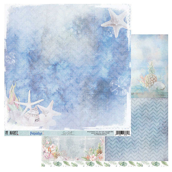 "49 and Market, Island Paradise Double-Sided Cardstock 12""X12"", Sea Salt (Retired)"