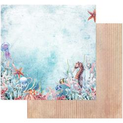 "49 and Market, Sand & Sea Double-Sided Cardstock 12""X12"", Sea World (Retired)"