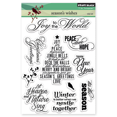 Penny Black, Clear Stamps, Season's Wishes