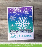 Lawn Fawn, Winter Scripty Sentiments, Clear Stamps