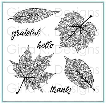 Gina K. Designs, Clear Stamps, Skeleton Leaves