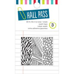 AC NOTEBOOK: Hall Pass - Washi Tape - Sketch Mark (3 rolls) - Scrapbooking Fairies