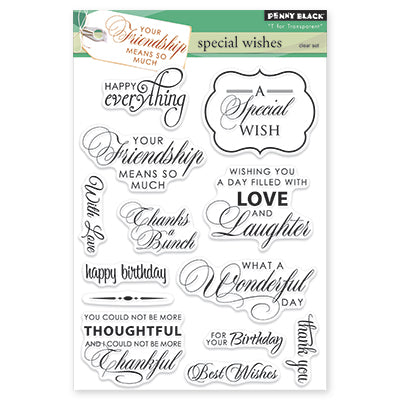 Penny Black, Clear Stamps, Special Wishes