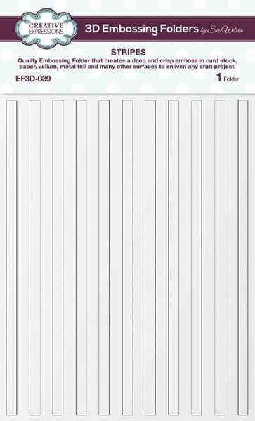 "Creative Expressions 3D Embossing Folder 5.75""X7.5"", Stripes"