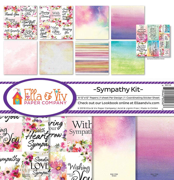 "Ella & Viv Collection Kit 12""X12"", Sympathy"