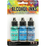Tim Holtz Alcohol Ink .5oz 3/Pkg (Glacier, Laguna & Monsoon)