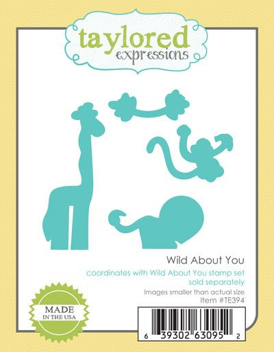 Taylored Expressions, Wild About You, Die - Scrapbooking Fairies