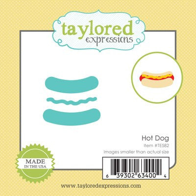 Taylored Expressions, Little Bits - Hot Dog, Thinlits Dies - Scrapbooking Fairies