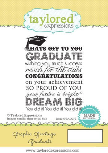Taylored Expressions, Graphic Greetings Graduate - Scrapbooking Fairies