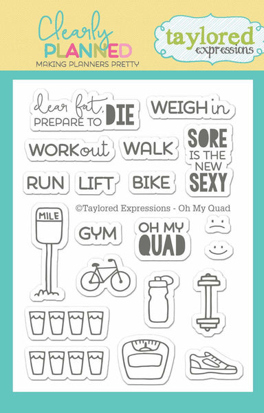 Taylored Expressions, Clear Stamp, Clearly Planned - Oh My Quad - Scrapbooking Fairies