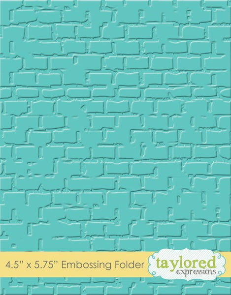 Taylored Expressions, Brick, Embossing Folder